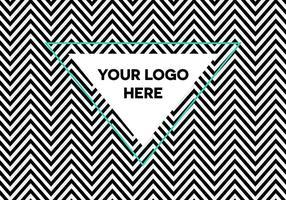 Gratis Optische Illusie Herringbone Logo Achtergrond vector