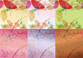 Kleurrijke Ginkgo Achtergrondvectoren