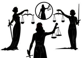 Vrouwelijke rechtvaardigheidsvectoren vector