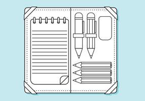 Platte pencil case lijnen kleurplaat