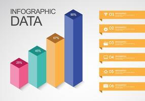 Inforgrafische gegevens vector