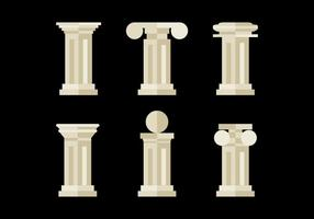 Platte en Minimalistische Romeinse Pijlers vector