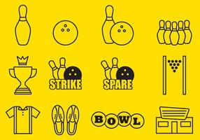 Bowling iconen vector