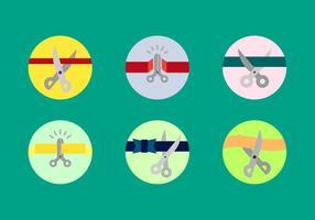 Gratis Scissors Cutting Ribbons Vector Pack