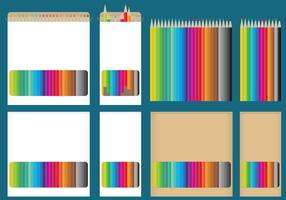 Kleurpotlood dozen vector