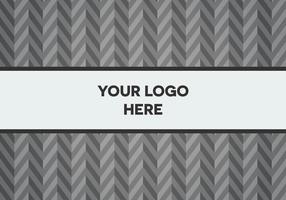 Gratis Grey Herringbone Logo Achtergrond vector
