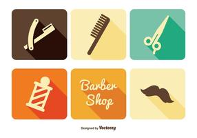 Kapper winkel icon set vector