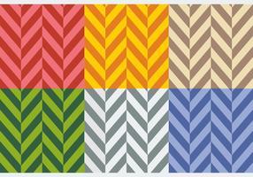 Gratis Platte Kleuren Herringbone Patronen vector