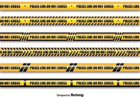 Gele politie lijnen vector