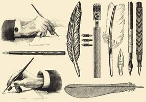Oude Stijl Pennen vector