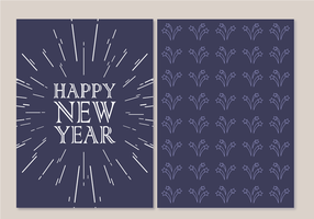 Gratis Gelukkig Nieuwjaar Kaart Vector