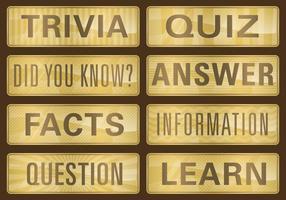 Gouden Trivia Titels vector