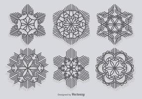 Moderne Sneeuwvlokken vector