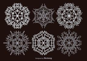 Witte sneeuwvlokken vector