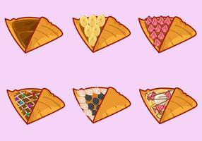 Diverse Flavour Crepes vector