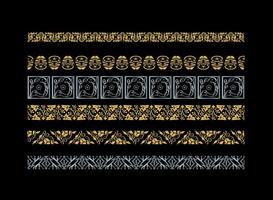 Decoratieve Arabesco Vector Borders