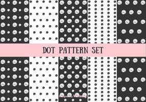 Punt patroon vector set