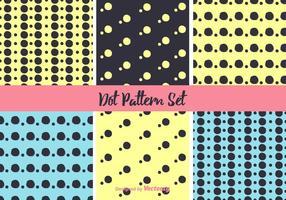 Neon dot patroon vector set