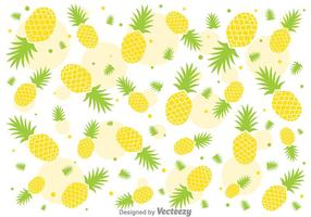 Vers Ananas Ananas Vector Patroon