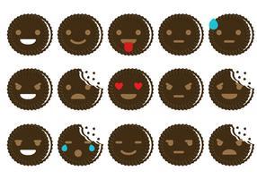 Oreo emoticon vectoren