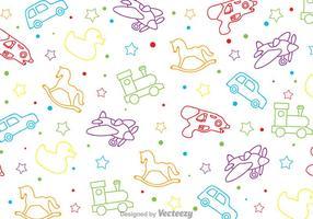 Kinderen speelgoed patroon vector