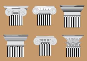 Klassieke Romeinse Pijlervectoren vector