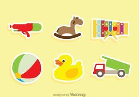 Kinder Speelgoed Sticker Vectoren