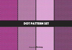 Paars stippatroon vector set