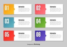 Eenvoudige infografische tekstvakken vector