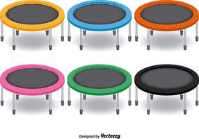 6 trampoline vector set