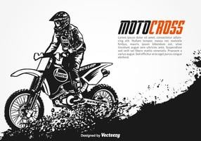 Gratis Vector Motocross Achtergrond