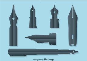 Pen nib collectie vector