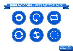 Replay iconen gratis vector pack