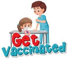 krijg gevaccineerde poster vector