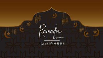 ramadan kareem zwarte en gouden achtergrond vector