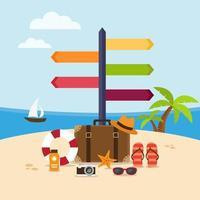 vakantie aan het strand vector