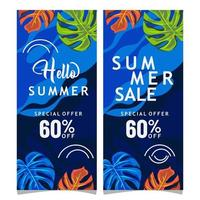 Hallo zomer verkoop banners vector