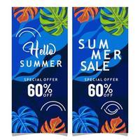 Hallo zomer verkoop banners
