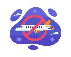 vluchtverbod tijdens het ontwerp van de pandemie van coronavirus