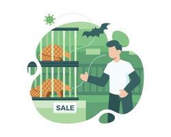 overdracht van coronavirus van pangolins en vleermuizen naar mensen
