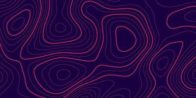 banner met topografie contour