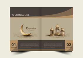 ramadan kareem brochure vector