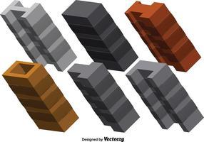 3D stalen balken vector