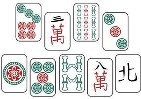 Gratis Mahjong-vectoren vector