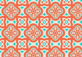 Oranje en Teel Marokkaans Patroon Achtergrond Vector