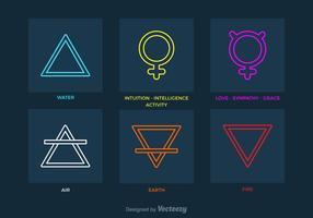 Gratis Lineaire Alchemie Vector Symbolen