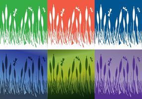 Reeds Achtergrond Kleuren vector
