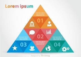 Kleurrijke Piramidekaart