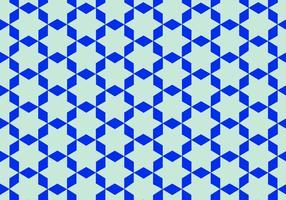 Blauwe Arabische Patroon Vector