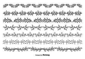 Hand getekende stijl vector grens set